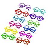 Tinksky 12pcs runde Gläser Rahmen keine Linsen Brillen Posing Requisiten Kostüm Party Supply
