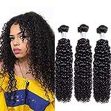 Brazilian Remy Bundles Kinky Curly Weave Bundles Brazilian Hair Bundles Hair Weft Brown Original Jerry Curly Weave Brazilian Hair Brazilian Hair Real Human Hair Bundles 10 12 14 Inch