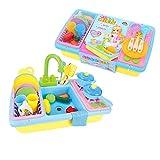 Lihgfw Kinder Geschirrspüler Elektro Sink Tabelle Simulation Play House Küche kochend Set Jungen und Mädchen Spielzeug geeignet for for Kinder