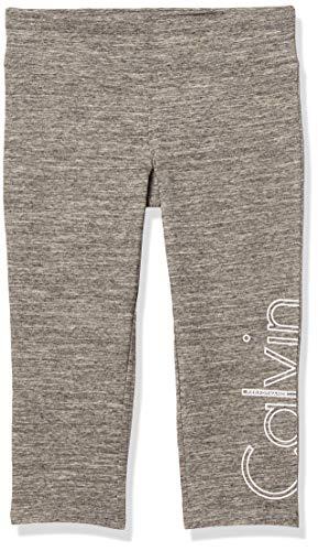 Calvin Klein Performance Damen Leggings mit Cut-Off Logo - grau - X-Groß