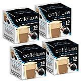 CaffeLuxe Servicio individual, vainas de café premium planas blancas - Vainas compatibles...