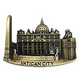 Weekinglo Souvenir Vaticano Imán de Nevera 3D de Metal Artesanía Hecha A Mano Turista Recorrido de Recuerdos de la Ciudad Carta de Refrigerador Etiqueta