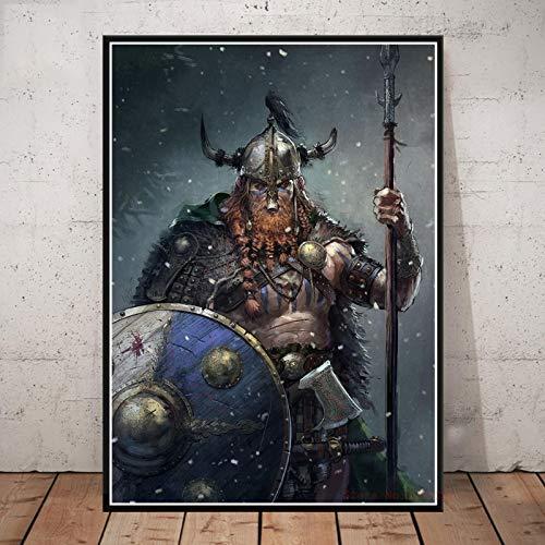 Póster De Vikingos, Serie De Televisión Clásica, Pintura En Lienzo, Impresiones, Cuadros De Pared para Sala De Estar, Decoración del Hogar, 50X70Cm Cdl-1686