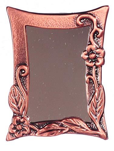 Melody Jane Puppenhaus Miniatur Antik Kupfer Klettern Blume Gerahmter Spiegel