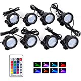 Pond Lights IP68 Waterproof Underwater Landscape Light 36 LED RGB Color Dimmable...
