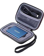 XANAD Hoes Koffer voor Samsung T3/Samsung T5 250GB 500GB 1TB 2TB Draagbare Externe Solid State Drive-Beschermende Reistas Cases(Zwart)