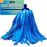Better Boat Synthetic Chamois Mop Head Boat Cleaning Products Wash Mop for Deck and Home