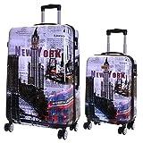 Karabar Valise Rigide à roulettes pivotantes de qualité supérieure avec Serrure TSA intégrée - Ensemble Lot de 2 valises...