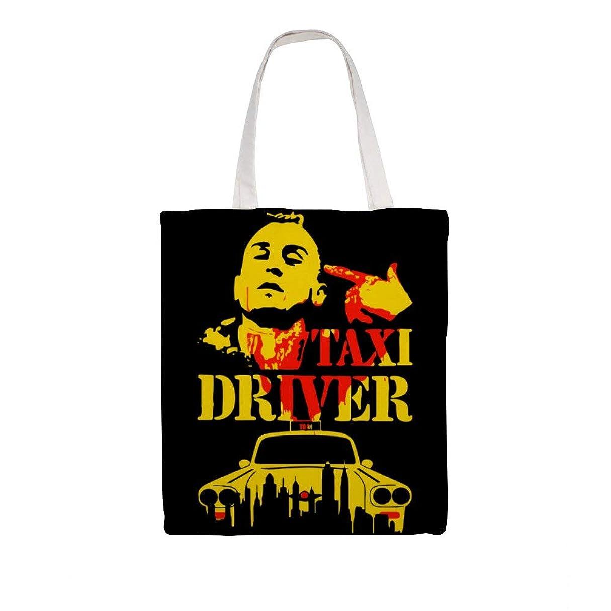 テントバルブ呼び出すズックバッグ トートバッグ 手提げ袋 大容量 ショルダー 買い物 旅行 質感 収納便利 耐久性 人気 おしゃれ 軽量 鞄 Taxi Driver 38*41cm