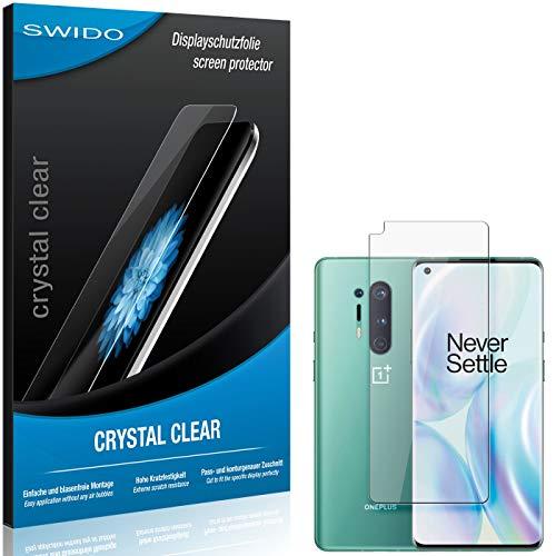 SWIDO Pellicola Protettiva per OnePlus 8 PRO [Crystal Clear], Cristallino, Transparente, Invisibile, Ultra Resistente, Effetto Anti-Impronte - Proteggi Schermo