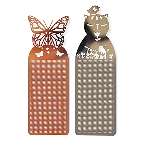 Soomeir 2 Pack Metal Bookmarks, Best Friend Gifts, Cute Animal Bookmarks for Children, Teens, Men, Women, Adults, Readers (Silvery+Pink)