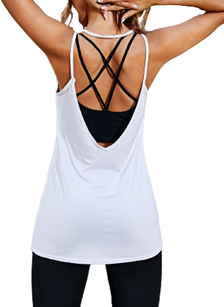 Tobrief Halter Tops for Women,Sexy Open Back Cami Tops Sleeveless Blouse Shirts