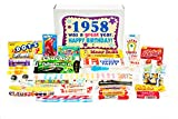 Woodstock Candy ~ 1958 62nd Birthday Gift Box Nostalgic Retro Candy Mix from Childhood for 62 Year Old Man or Woman Born 1958 Jr