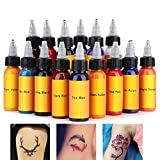 Tattoo Inks Material Set,30ml/Bottle 16 Colors Tattoo Makeup Ink Pigment Professional Beauty Body Art Inks for Home Salon Tattoo Shop