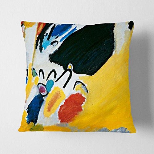 Arty Pie Cojín con diseño de Wassily Kandinski Composition, poliéster, Multicolor, 42 x 20 x 42 cm