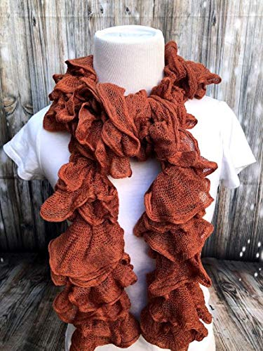 Special Campaign Handmade Knitted NEW before selling Ruffle Coral Scarf