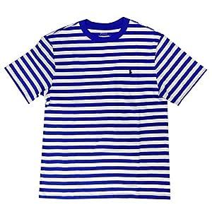 POLO RALPH LAUREN ポロ ラルフローレン Tシャツ クルーネック 半袖 ボーダー USボーイズサイズ 738119 STAR BLUE ブルー L [並行輸入品]