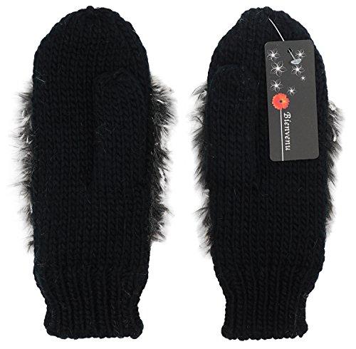 Double Layer Winter Thicken Warm Knit Mittens Cartoon Hedgehog Gloves