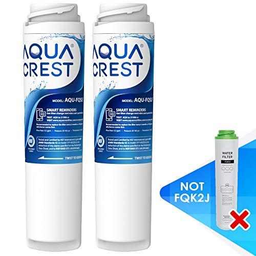AQUACREST FQSLF Under Sink Water Filter, Compatible with GE FQSLF, GXSV65R Undersink Water Filter, Reduce chlorine, taste & odor, sediment (1 Set)