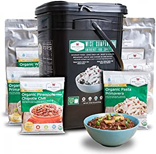 Wise Company, Emergency Food Supply, Organic Breakfast and Entree Variety, 90 Servings