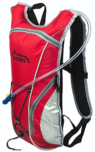 Andes Red 2 Litre Hydration Pack Water Rucksack/Backpack Cycling Bladder Bag New