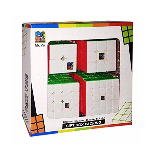 Set de 4 Cubos Competicion MoYu MF2 2x2 3x3 4x4 y 5x5 Gift Box Packing MF9301