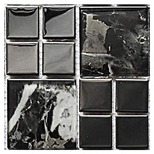 Byrhgood 10 unids Etiqueta de Pared de Mosaico a Prueba de Agua DIY DIY Agotesivo Azulejos Decoración Decoración de la Pared del baño Cocina Azulejo Decorativo (Color : MSC013)