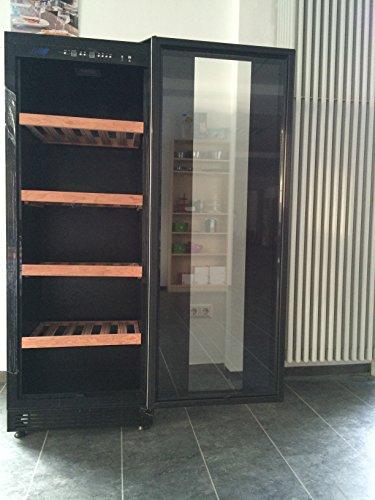 KBS Weinkühlschrank Bacchus 310 Exclusive-Line -mit Glastür und 2 Temperaturzonen