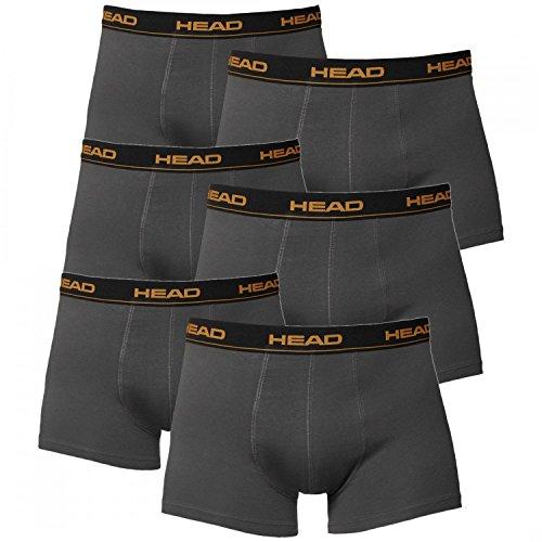 HEAD Herren Boxershorts 841001001 6er Pack, Wäschegröße:L;Artikel:Dark Shadow