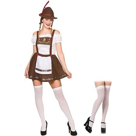 Oktoberfest Beer Maid Costume Women German Bavarian Wench Dirndl Fancy Dress UK