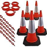 Set of 5 Traffic Cones, Plastic...