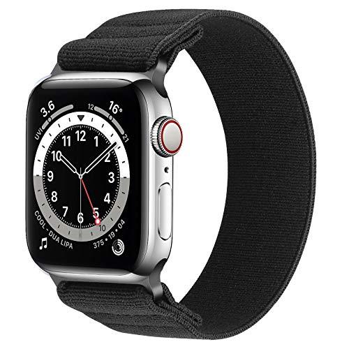 Neoxik Cinturino elastico compatibile con Apple Watch Band 42/44 mm traspirante cinturino di ricambio in morbido nylon per uomini e donne per Apple Watch Series 6/5/4/3/2/1/SE senza fibbia e no