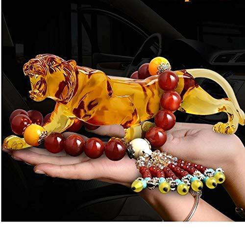 GangKun High-end, luipaard, benodigdheden, creatieve decoratie, gekleurd glas, kluis, auto, high-end, luipaard, auto, tijger stoom, auto decoratie, wierook D