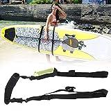 Guer Sup Paddle Board Carry Strap, Correa de Hombro para Tablas de Surf, Kayak Canoe Carry Strap Storage Sling, Correa Ajustable para Soporte de Kayak, Negro