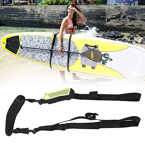 Guer Sup Paddle Board Carry Strap, Tracolla per Tabelle da Surf, Kayak Canoe, Carry Strap Storage Sling, Cinghia Regolabile per Supporto di Kayak, Nero