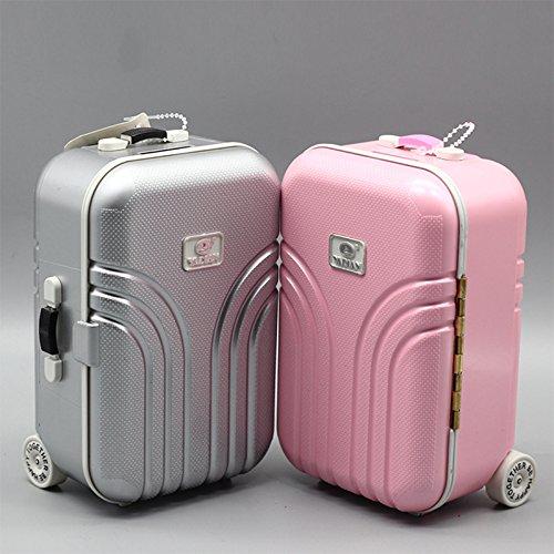 OUYAWEI Leuke Plastic Rolling Koffer Mini Bagage Box voor BJD Poppen
