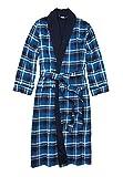 KingSize Men's Big & Tall Jersey-Lined Flannel Robe - Tall - L/X, Twilight Plaid