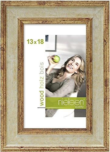 Nielsen Products fotolijst, hout, crèmekleurig, 13 x 18 cm, goudkleurig
