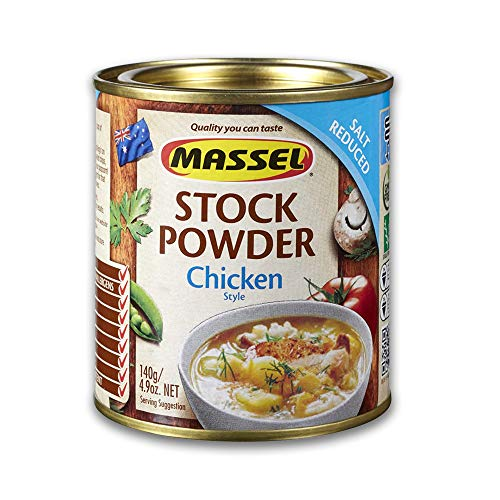 Massel, Bouillon Salt Reduced Stock Powder - No MSG, Gluten-Free, Chicken Flavour - 140 g, Pack of 6 Canned Soup Stock