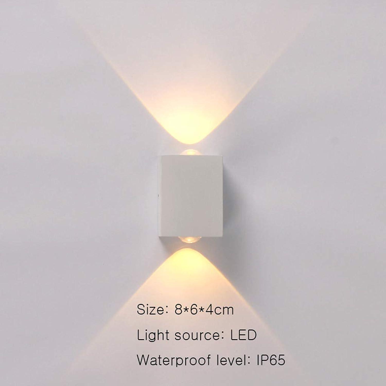 KISlink Familienwandlampe Wohnzimmer geführter wasserdichter Innenhofauenwandhintergrund im Freien
