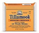 Tillamook Medium Cheddar Thick Sliced Cheese 12 oz (Pack of 1)