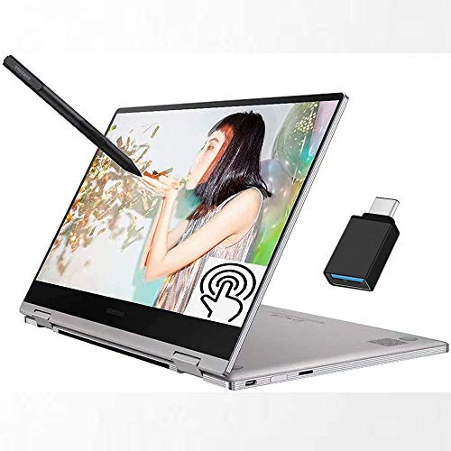 "Samsung Notebook 9 Pro 2-in-1 2020 Premium Laptop, 13.3"" Full HD Touchscreen, 8th Gen Intel Quad-Core i7-8565U, 16GB DDR4 512GB SSD, Thunderbolt Backlit KB Fingerprint Win 10 + iCarp USB C Toggle"