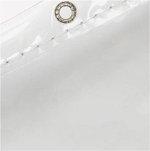 Bache imperméable Transparente Couvre-Sol pour Le Camping, la pêche, Le Jardinage et Les Animaux domestiques Bache en Plastique PVC Robuste, 600 g m2