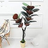 no brand Llzpl Nordique Plante Artificielle Riche Mangrove bonsaï décoration d'intérieur Vert Artificiel Faux Plante Artificielle bonsaï Arbre 1.3 m avec Pot