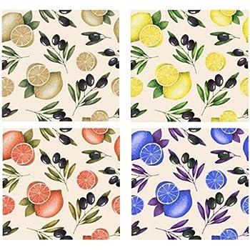 Regalitostv Pack Surtido PAÑO Cocina (12 Unidades) 100% Rizo Algodon, Listo para Colgar Colores Estampados 50 X 50 CM Ultra Absorbente, Secado RAPIDO (CAFÉ, 12): Amazon.es: Hogar