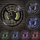 MASERTT Perter Parker Spider Vinile Album Re-purposed Record Clock Orologio da Parete al Quarzo Silenzioso per la Camera dei Bambini Amanti dei Fumetti Regalo-Senza LED