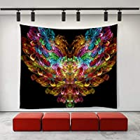 JOOCAR 絞り染め花愛ヒッピーアートタペストリー壁掛け居間の寝室の寮の装飾的な芸術のタペストリー 150cm x 230cm
