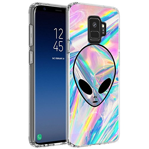 Alien Samsung Galaxy S9 Case Customized Design Anti-Scratch Flexible Shock Absorption Soft TPU Protective Phone Case for Samsung Galaxy S9-Clear