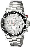 Edox Reloj Cronógrafo para Hombre de Cuarzo con Correa en Acero Inoxidable 10227-3M-ABN