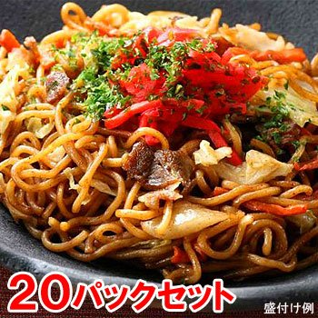 ヤヨイ 業務用 オタフクソース使用 焼そば 20食(200g×20パック)